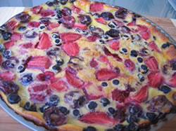 Le clafoutis au fruits rouges
